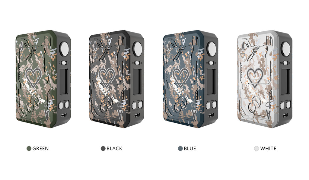 Teslacigs POKER 218 Kit 218W Dual TC Box Mod Kit Colors Available