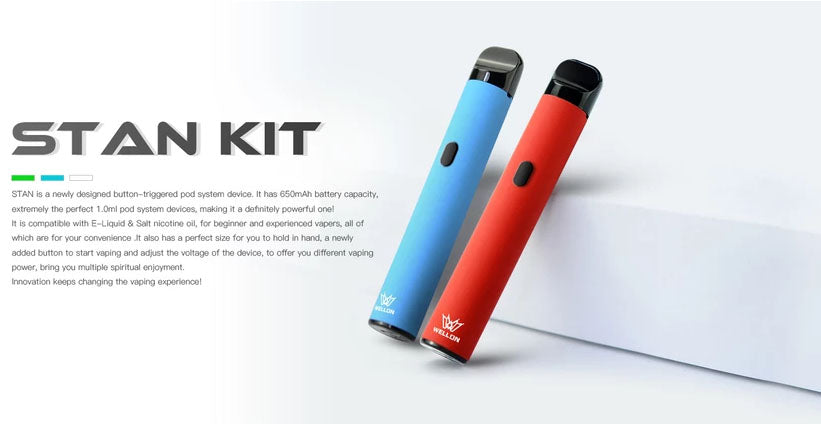 WELLON STAN Vape Pod System Starter Kit 650mAh 1.0ml