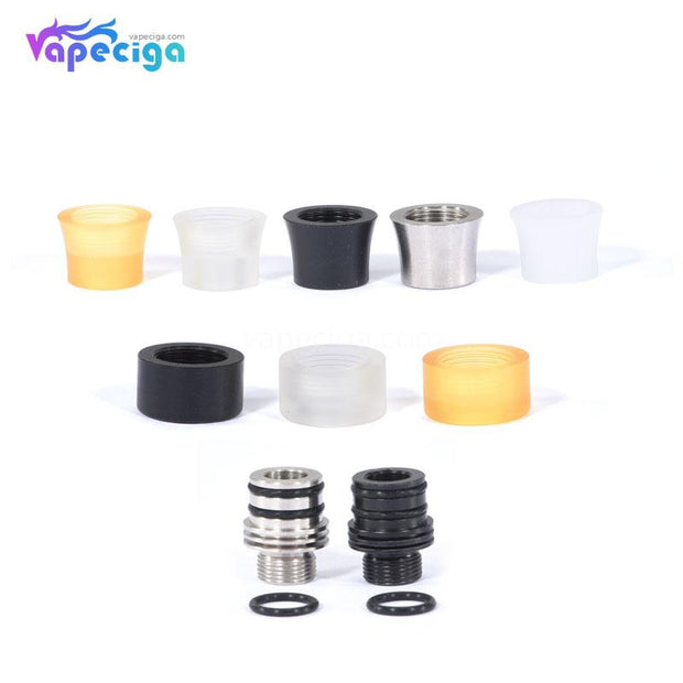10-in-1 KS Style 510 Drip Tip Set Stainless Steel + POM + PEI