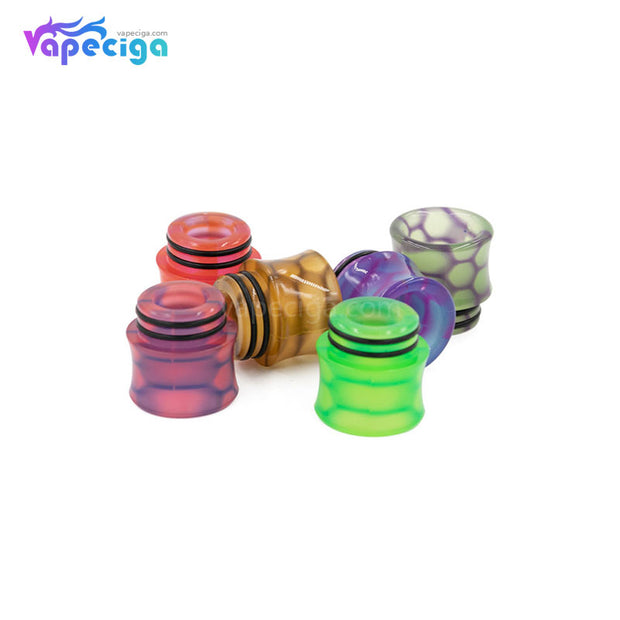 REEVAPE AS251WY  Universal 810 Resin Replacement Drip Tip 6 Colors Display
