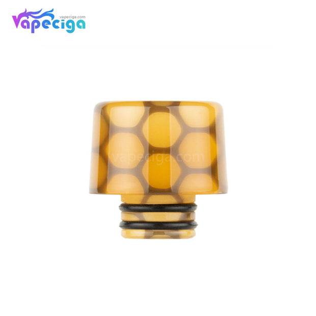 Yellow Purple REEVAPE AS250WY Universal 510 Resin Replacement Drip Tip
