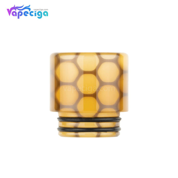 Yellow REEVAPE AS252WY  Universal 810 Resin Replacement Drip Tip
