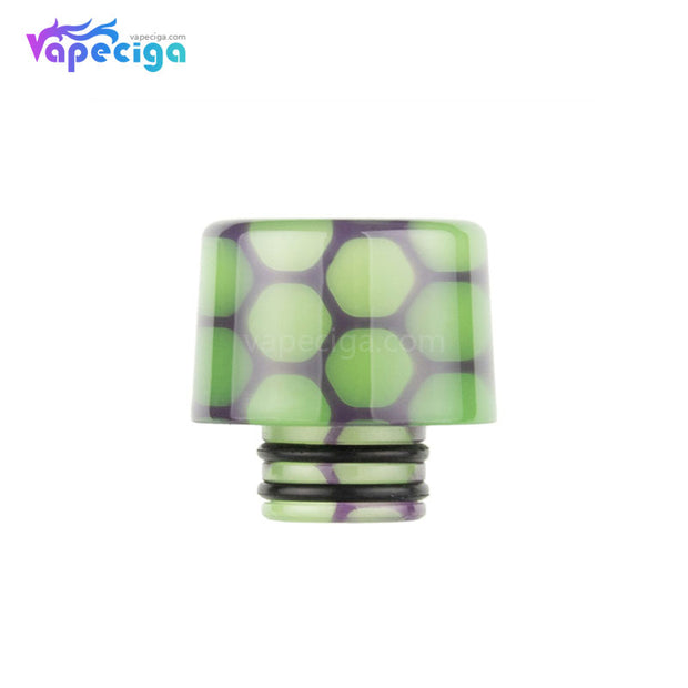 Green Purple REEVAPE AS250WY Universal 510 Resin Replacement Drip Tip