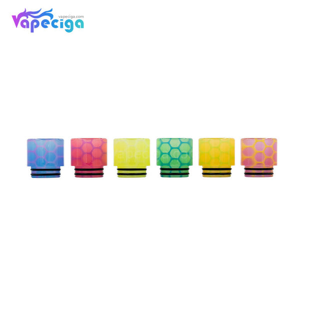 REEVAPE AS252WY  Universal 810 Resin Replacement Drip Tip 6 Colors Dispaly