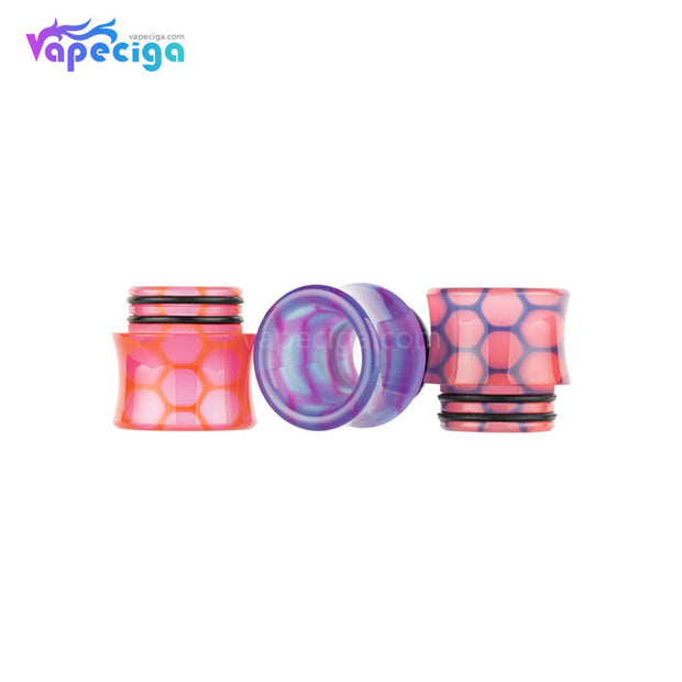 REEVAPE AS251WY  Universal 810 Resin Replacement Drip Tip 3 Colors Display