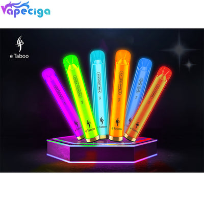 E-TABOO RGB Light Glowing Disposable Vape Device Kit 1000 Puffs