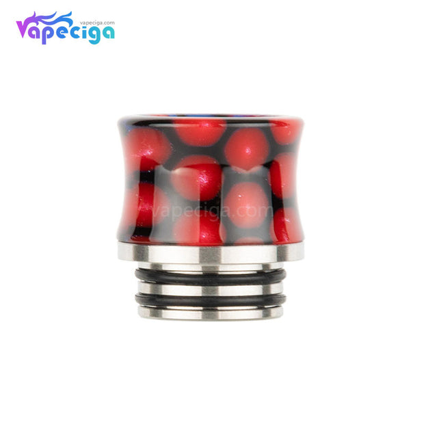 Red REEVAPE AS235sr Universal 810 Resin Drip Tip