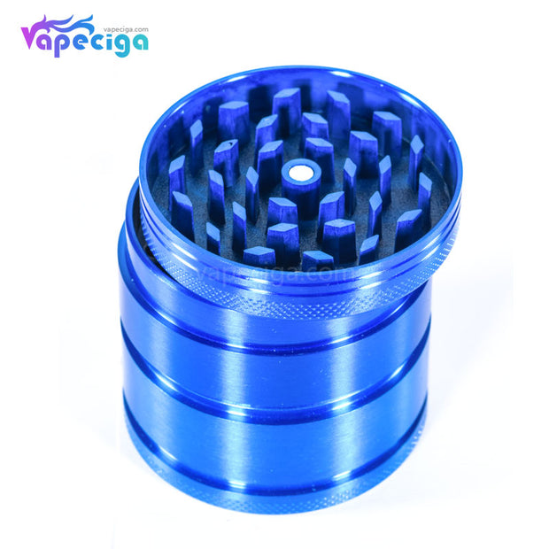 4-layer Tobacco Dry Herb Grinder Hand Muller Aluminum Alloy Blue