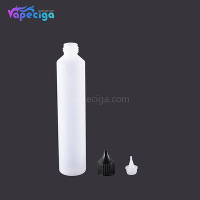 PET Semi-transparent Dropper Bottle 100ml with Black / White Cap 5PCs