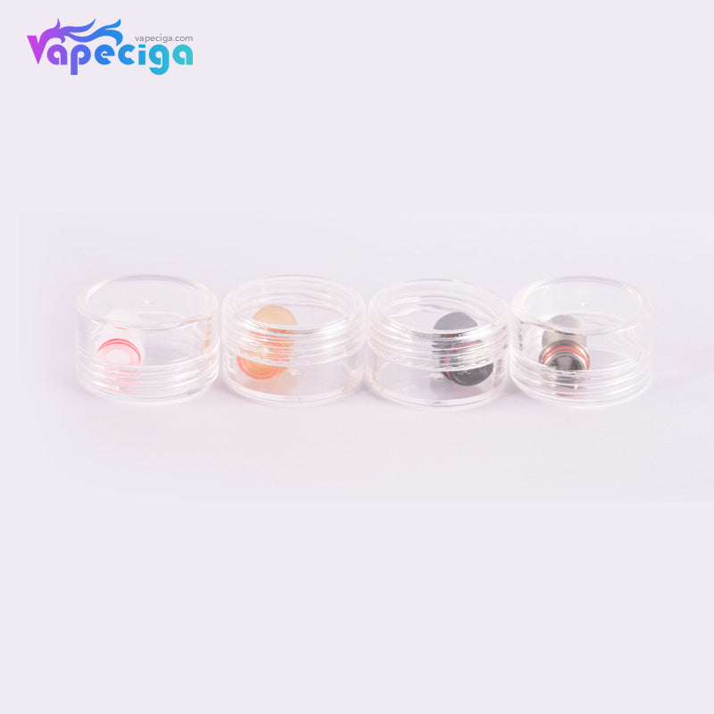 510 Curved Drip Tip Stainless Steel + POM + PEI 4PCs