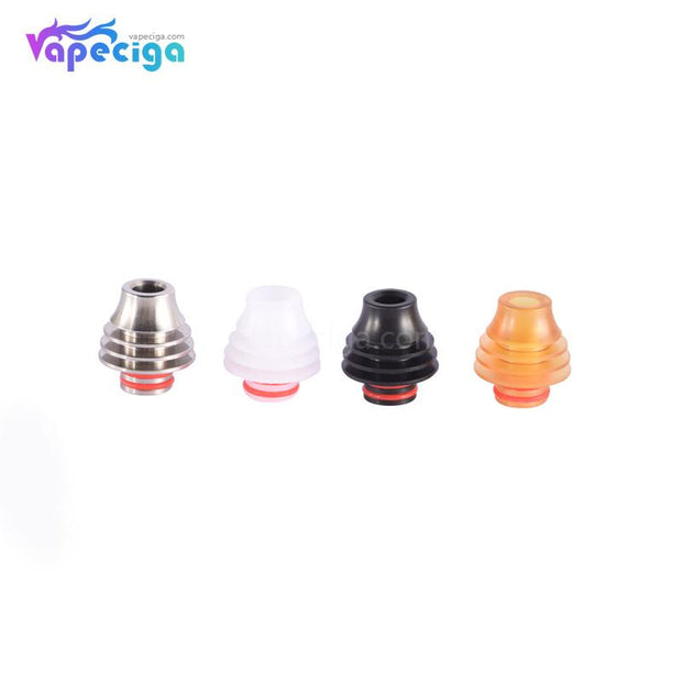 Mixed Color 510 Hellfire Drip Tip Stainless Steel + POM + PEI 4PCs