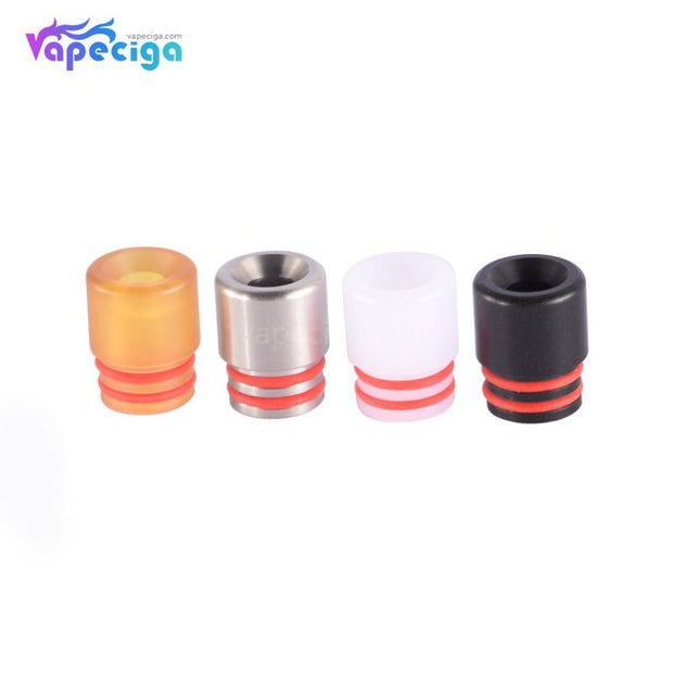 Mixed Color 510 T7 Drip Tip Stainless Steel + POM + PEI 4PCs