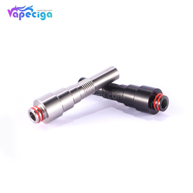 510 Tower Style Long Drip Tip Stainless Steel 5.5cm 2PCs Real Shots