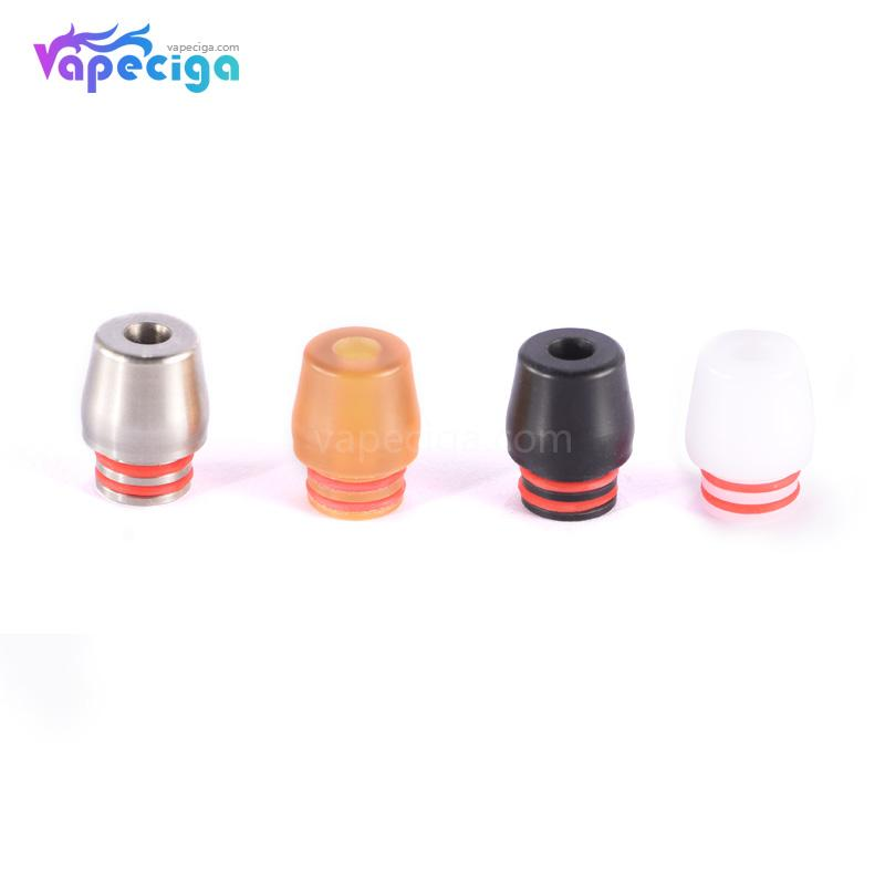 510 Whisper Drip Tip Stainless Steel + POM + PEI 4PCs