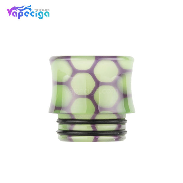 Yellow Purple REEVAPE AS251WY  Universal 810 Resin Replacement Drip Tip