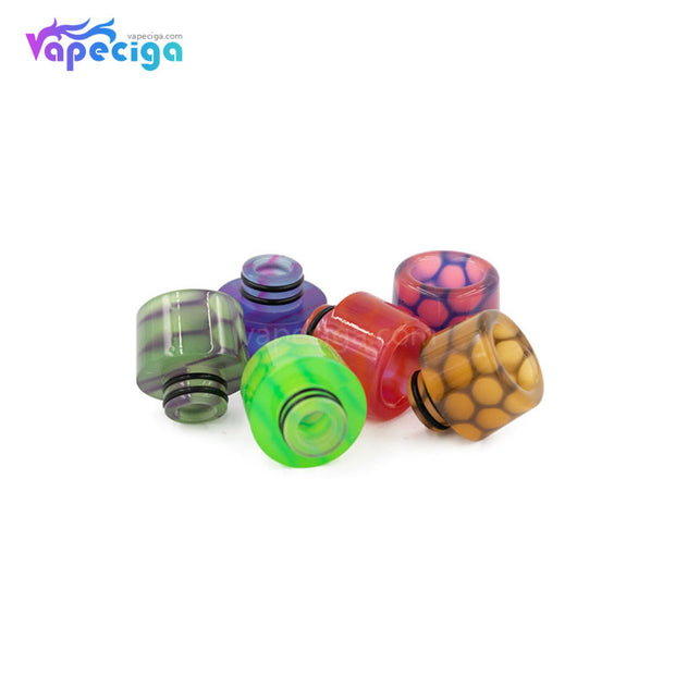REEVAPE AS250WY Universal 510 Resin Replacement Drip Tip 6 Colors Display