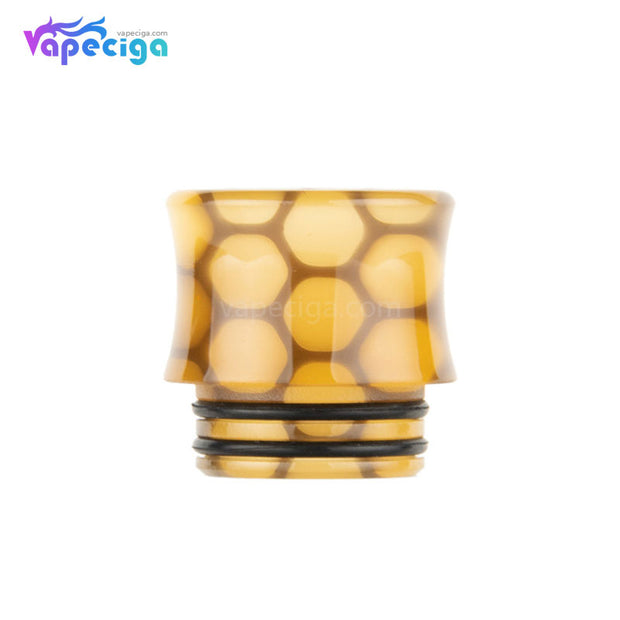 Yellow REEVAPE AS251WY  Universal 810 Resin Replacement Drip Tip