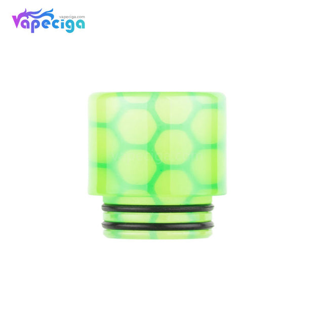 Yellow Green REEVAPE AS252WY  Universal 810 Resin Replacement Drip Tip