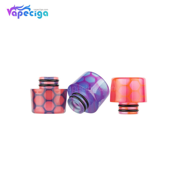 REEVAPE AS250WY Universal 510 Resin Replacement Drip Tip 3 Colors Display