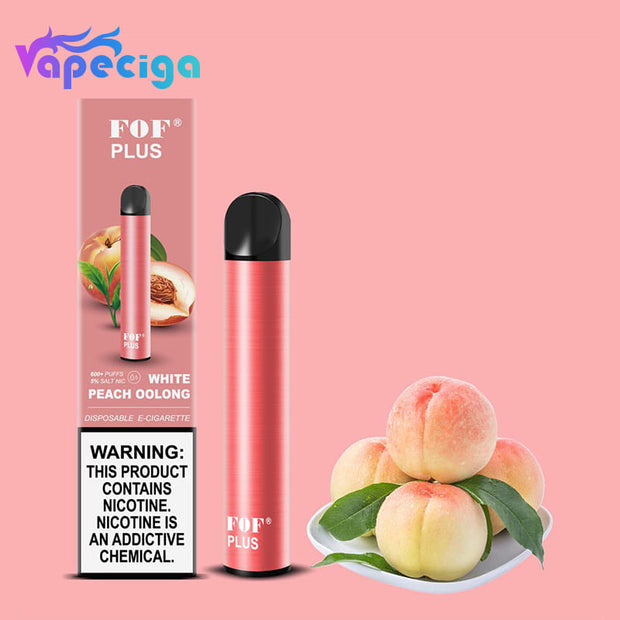 FOF PLUS DISPOSABLE VAPE DEVICE 800 PUUFS 5PCS