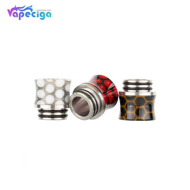 REEVAPE AS235sr Universal 810 Resin Drip Tip 3 Colors Real Shots