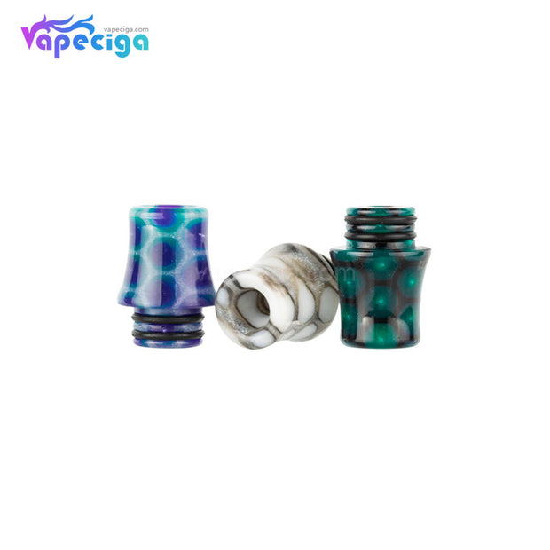 REEVAPE AS254SR 510 Resin Replacement Drip Tip 3 Colors Display