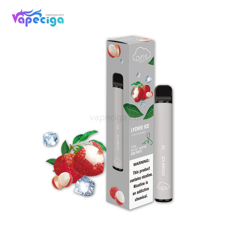 Airistech Puff Disposable Vape 500mAh 3.2ml 800 Puffs