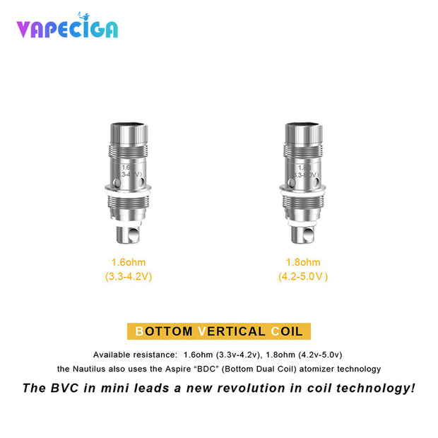 Aspire Nautilus  BVC Coil Bottom Vertical Coil