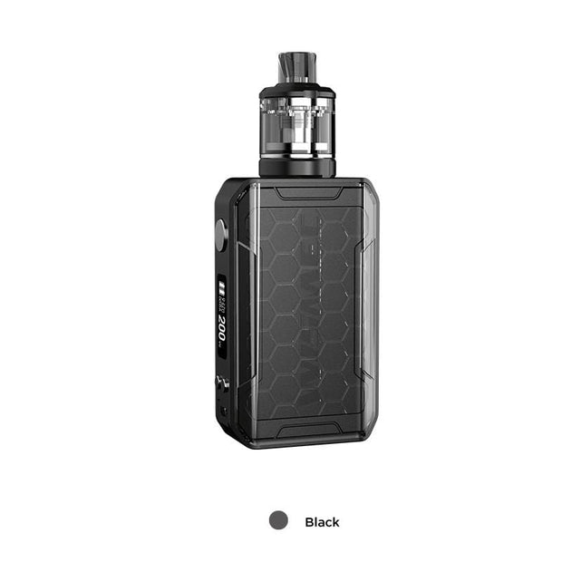 Black WISMEC SINUOUS V200 200W TC Mod Kit with Amor NSE Atomizer