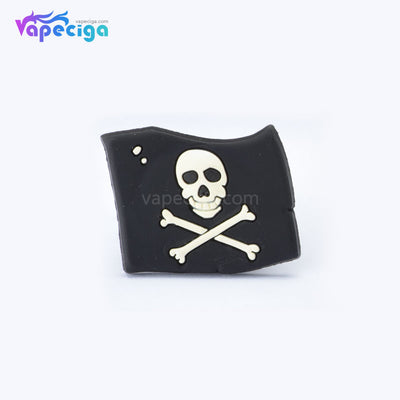 Black Skull Cartoon Silicone Vape Band for Atomizer / Pod System 18mm