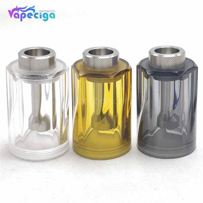 Coppervape Replacement PC / PEI Diamond Top Cap 3 Colors Optional for Dvarw Style MTL RTA 22mm
