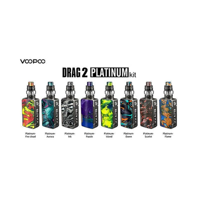 VOOPOO Drag 2 Platinum 177W TC Mod Kit Colors Available