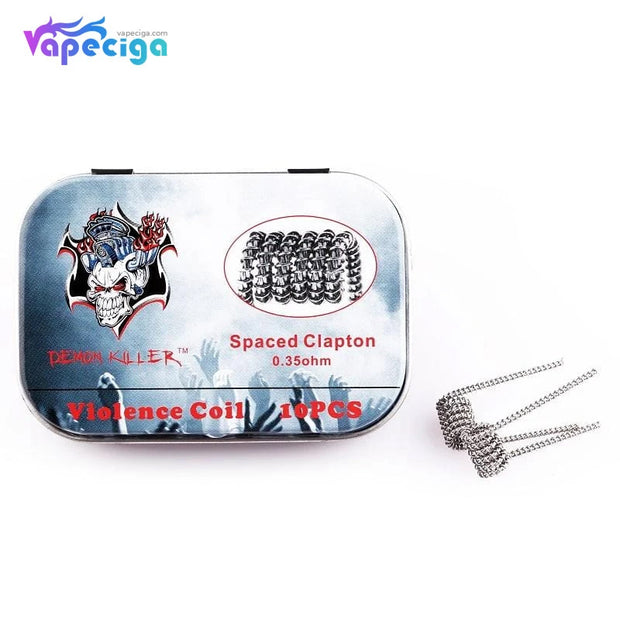 Demon Killer Violence Spaced Clapton Coil 0.35ohm 10PCs