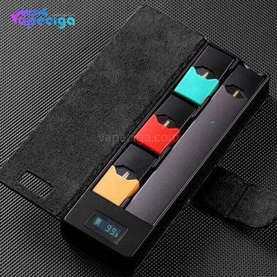 E-Boss Vape Full II Power Bank Charging Box with Leather Protector for JUUL 1100mAh - Black