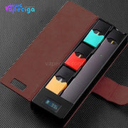 E-Boss Vape Full II Power Bank Charging Box with Leather Protector for JUUL 1100mAh - Brown