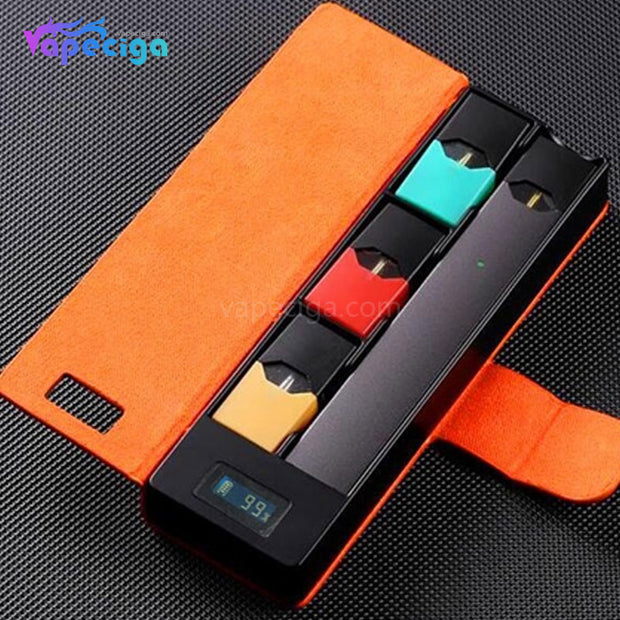 E-Boss Vape Full II Power Bank Charging Box with Leather Protector for JUUL 1100mAh - Orange