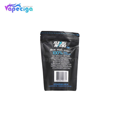 Flashwicks 2.0 Vape Wicking PIMA Cotton Back Package Details