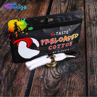 G-Taste Preloaded Shoelace Vape Wicking Cotton Package