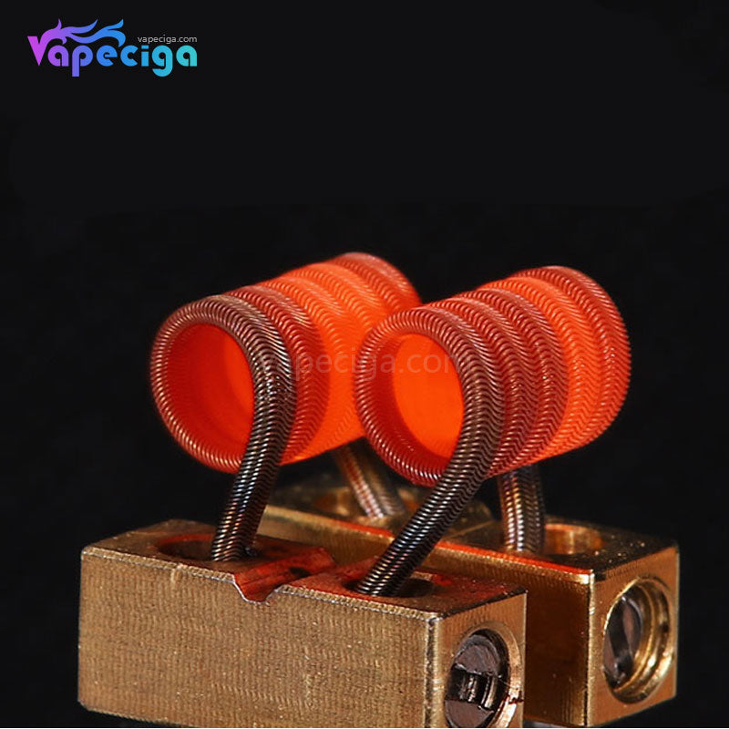 Goforvape Handmade Ni80 Pre-built Framed Staple Alien Coil 0.26ohm 5 Wraps 2PCs