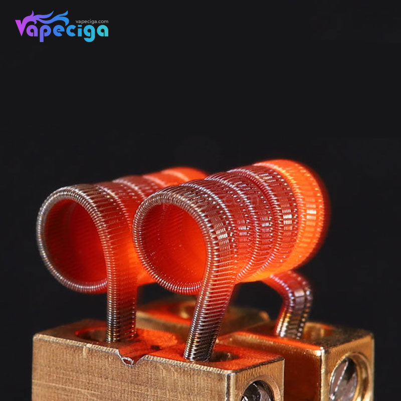 Goforvape Handmade Ni80 Pre-built Staggered Framed Staple Coil 0.25ohm 5 Wraps 2PCs