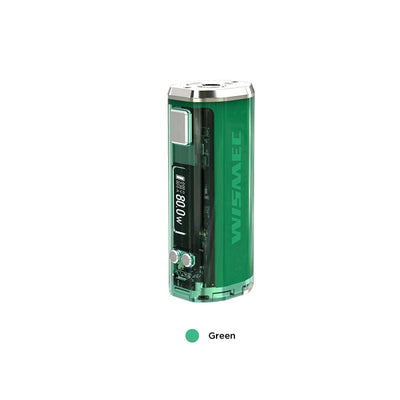 Green WISMEC SINUOUS V80 TC Box Mod