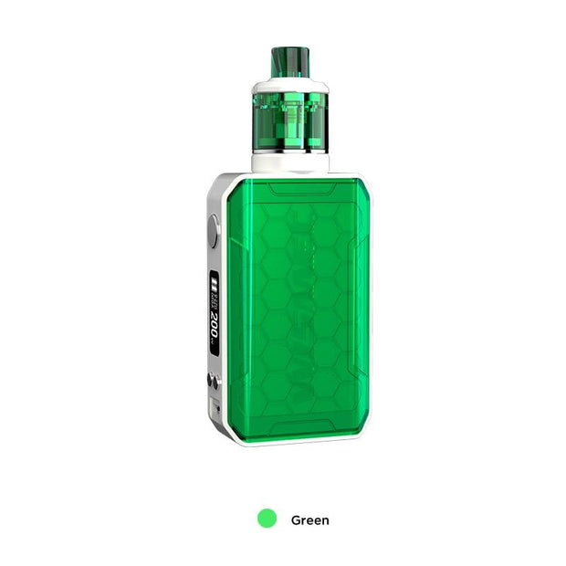 Green WISMEC SINUOUS V200 200W TC Mod Kit with Amor NSE Atomizer