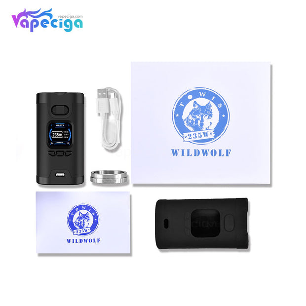 HCIGAR Wildwolf TC Box Mod 235W Package Includes