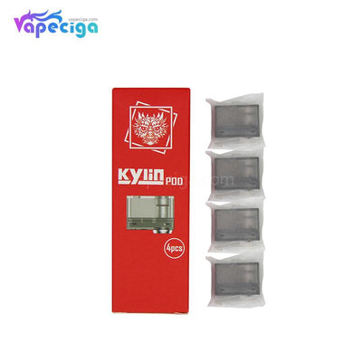Hugo Vapor Kylin Replacement Pod Cartridge 3ml 0.6ohm / 1.2ohm 4PCs