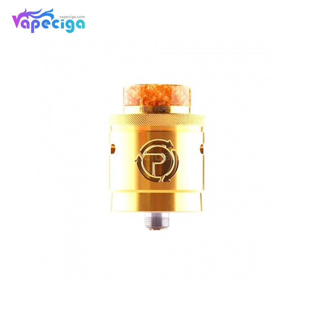 Hellvape Passage BF RDA Dual Coil Deck 24mm Gold