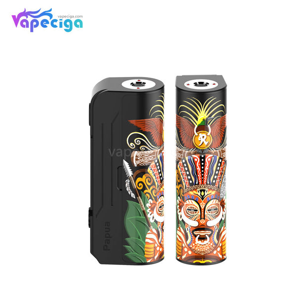 Hippovape Papua VV Box Mod 100W 2 Colors Display
