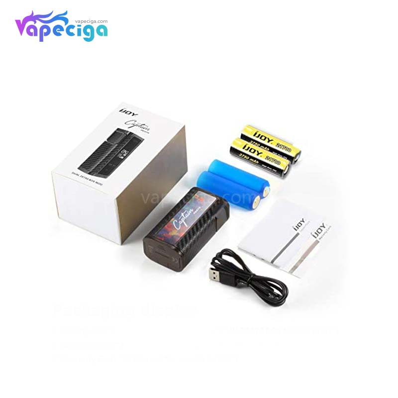 IJOY Captain PD270 TC Box Mod 234W with 2*20700 Battery New Color Edition