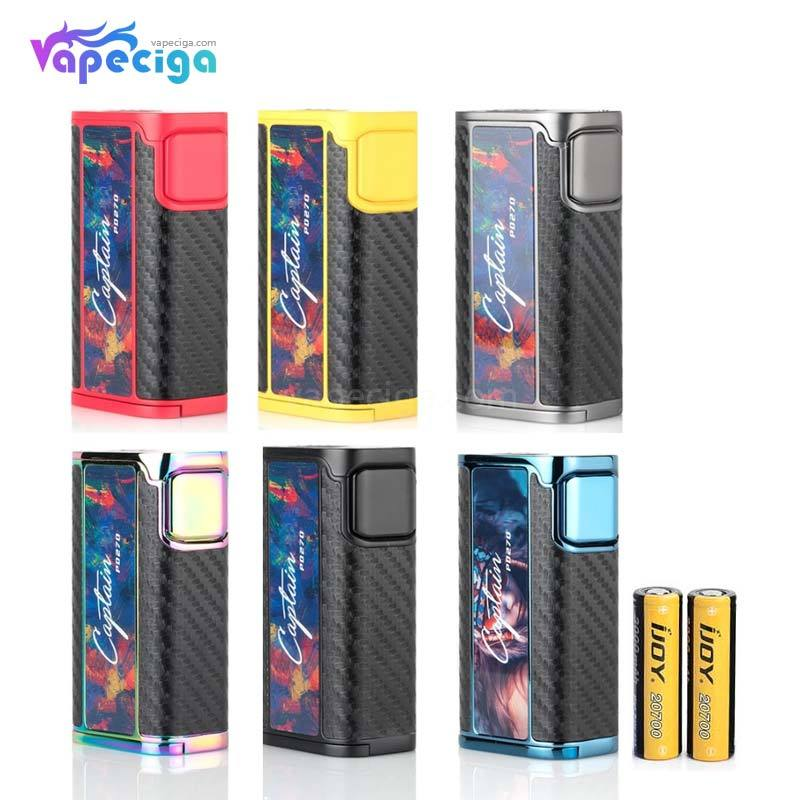 IJOY Captain PD270 TC Box Mod 234W with 2*20700 Battery