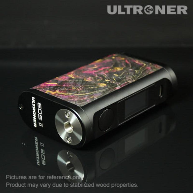 ULTRONER EOS II 180W TC Box Mod Stabilized Wood View