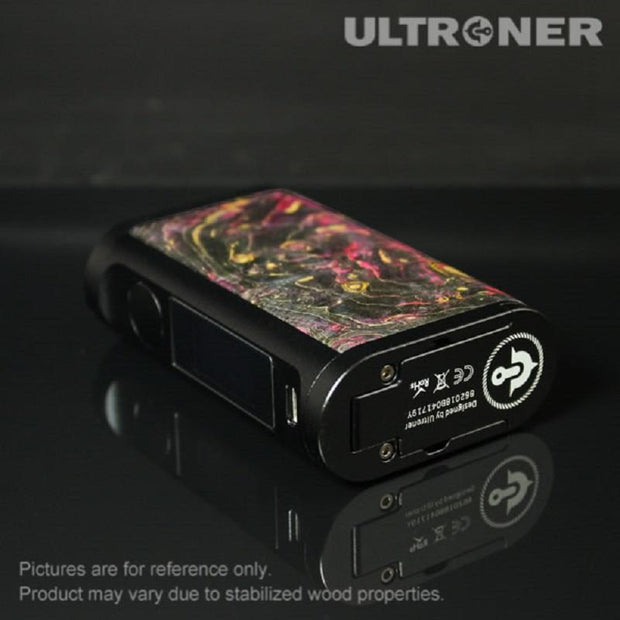 ULTRONER EOS II 180W TC Box Mod Stabilized Wood Details